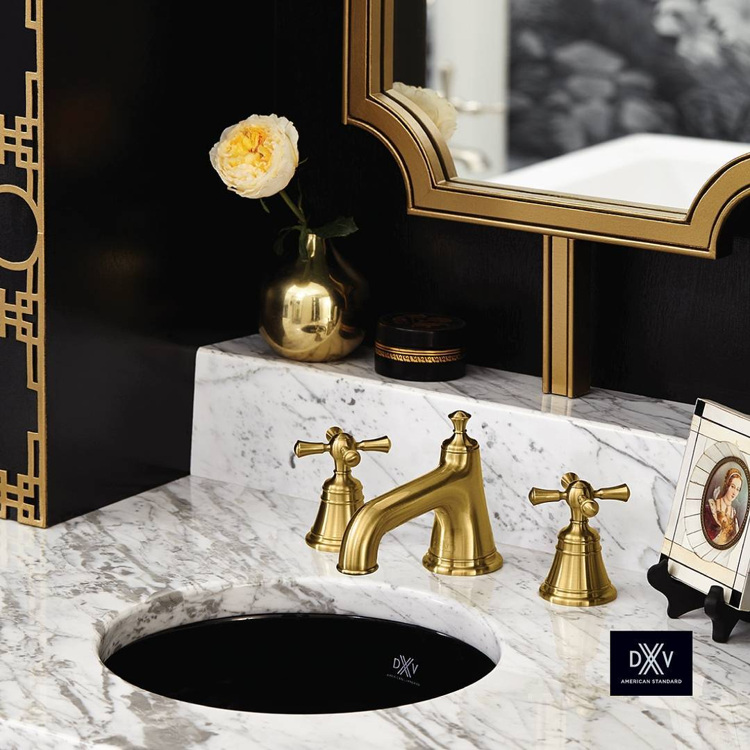 DXV satin Brass classic faucet