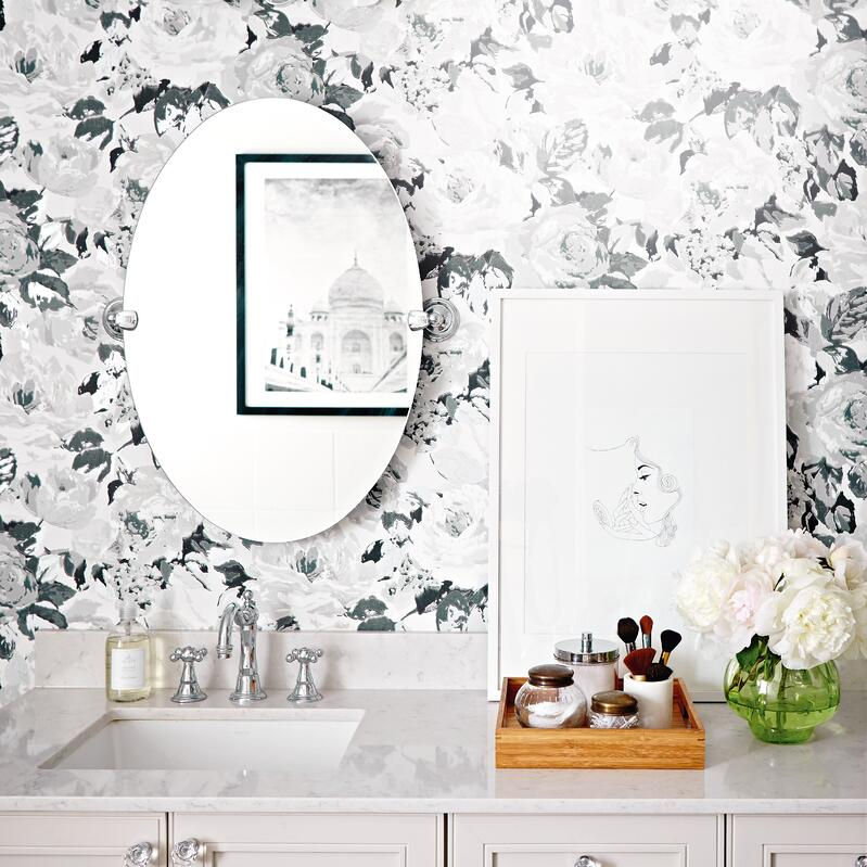 10 Simple Ways to Revitalize Your Old Bathroom - Replace Your Wallpaper