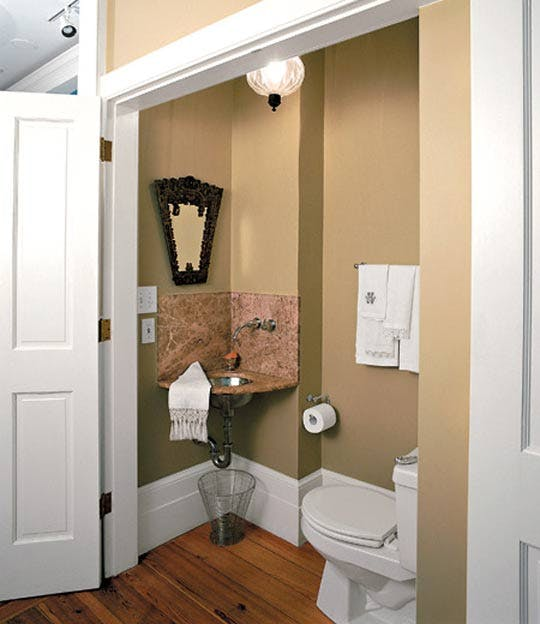 7 Ways to Maximize the Space in Your Small Bathroom Layout - Closet into Bathroom