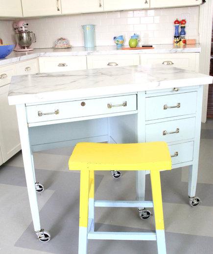 8 of Our Favourite Kitchen Island Design Ideas - Transform a Desk
