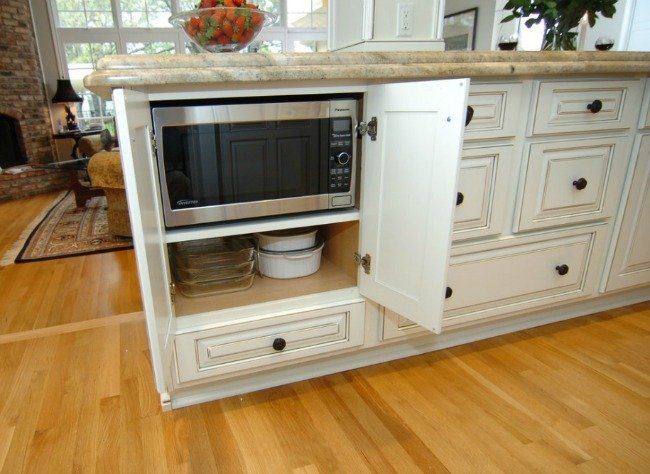 8 of Our Favourite Kitchen Island Design Ideas - Microwave in Kitchen Island