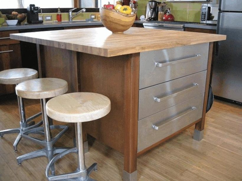 8 of Our Favourite Kitchen Island Design Ideas - Wood and Metal Island