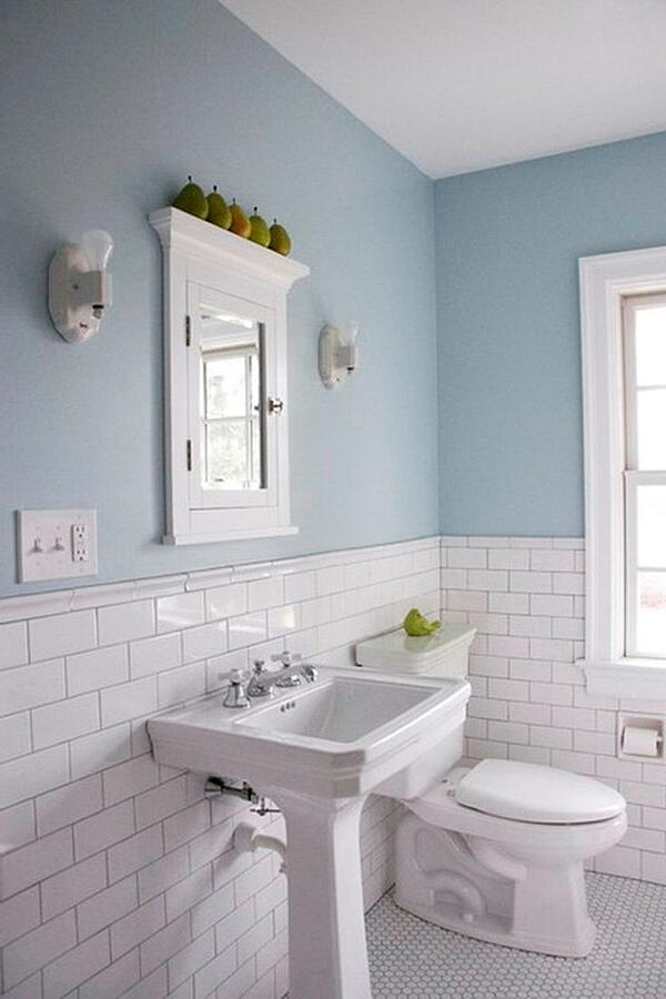 7 Apartment Bathroom Ideas For Your First Place - Choose Your Colours Wisely