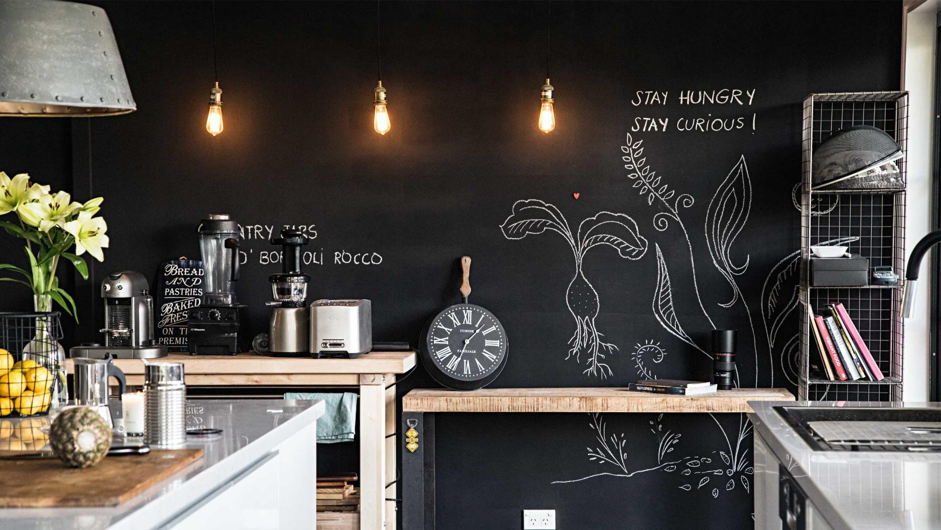 How to Create the Perfect Family-Friendly Kitchen in 7 Steps - Put Up a Chalk Board