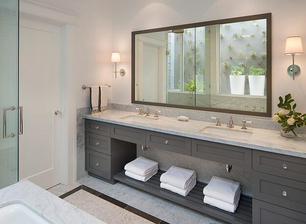 Liven Up Your Home With These Bathroom Colours - Charcoal Bathroom Vanity