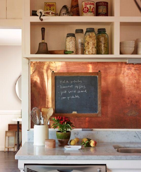 6 Unique Kitchen Backsplash Ideas That Provide Protection - Copper Backsplash