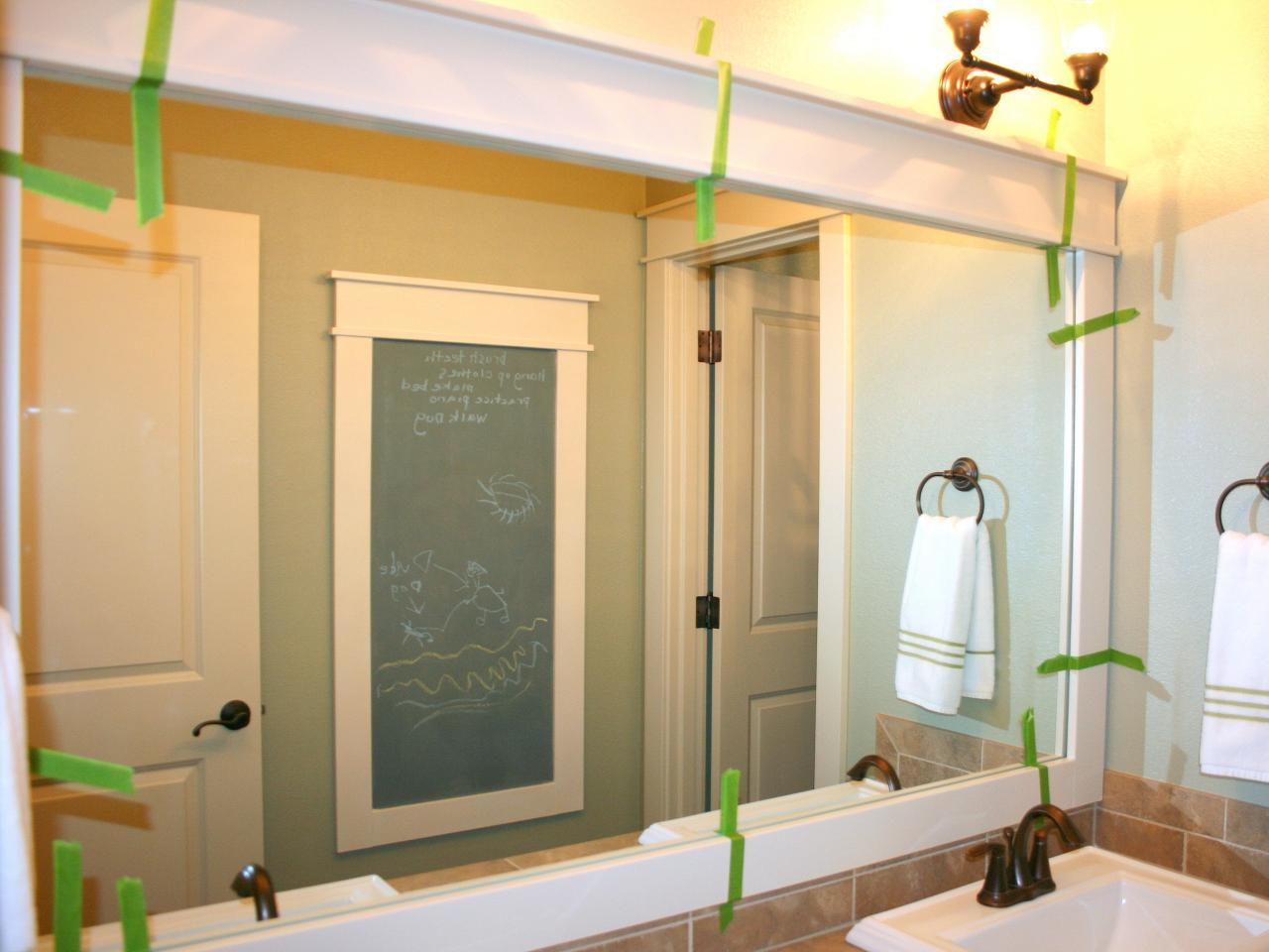How to Create a DIY Mirror Frame for Your Bathroom - Combine the mirror frame
