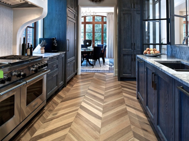Kitchen Flooring: How to Choose the Best Option (Types and Tips) - Herringbone Wood Floors