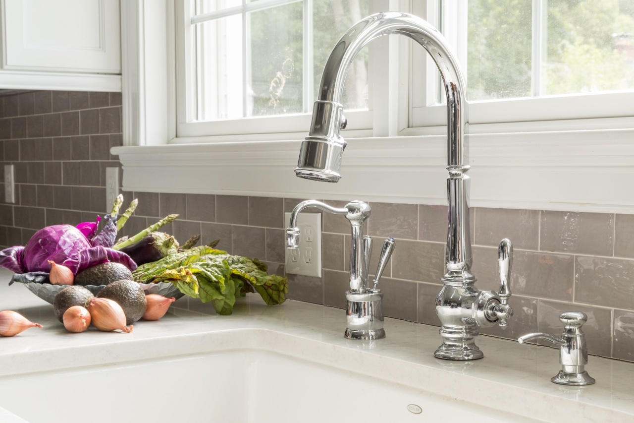 kitchen faucet and soap