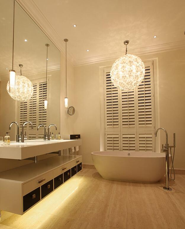 10 Ways to Achieve Your Best Bathroom Lighting - Layer the lighting fixtures
