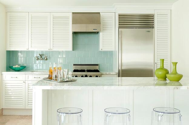 8 Different Types of Kitchen Cabinets You'll Love - Louvered Kitchen Cabinets
