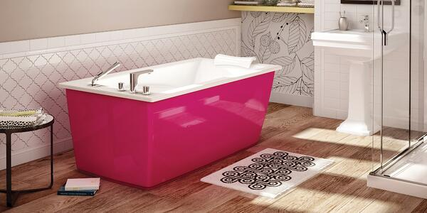 Embrace Retro and Chic Style With Pink Bathroom Tiles - Add a Pink Bathtub