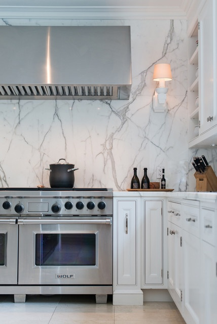 6 Unique Kitchen Backsplash Ideas That Provide Protection - Marble Backsplash