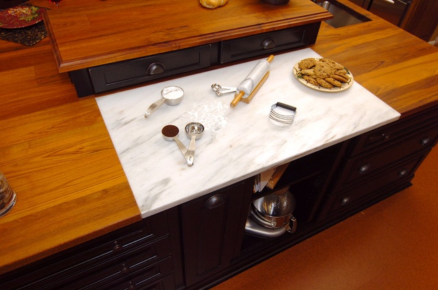 6 Ways to Create a Baker's Kitchen at Home - Marble Countertop Baking