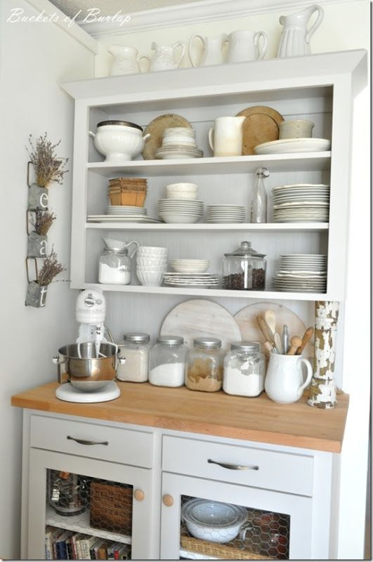 6 Ways to Create a Baker's Kitchen at Home - Open Shelving Baking Station
