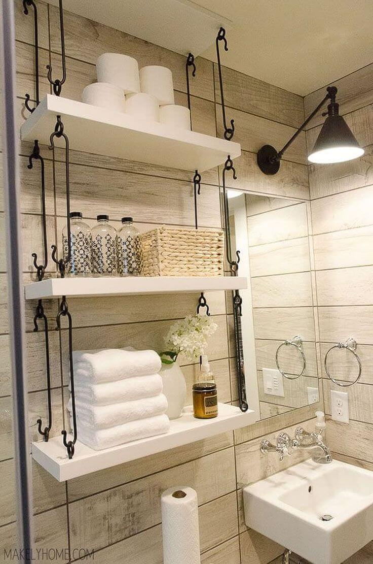 How to Use Bathroom Shelves to Organize Your Space - Over Toilet Storage