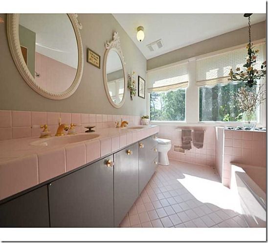 Embrace Retro and Chic Style With Pink Bathroom Tiles - Paint the Walls
