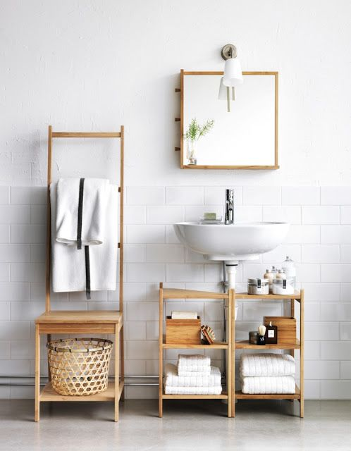 7 Genius Pedestal Sink Storage Ideas for Your Home - Under Sink Shelving