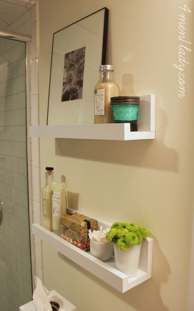 How to Use Bathroom Shelves to Organize Your Space - Picture Ledge in Bathroom