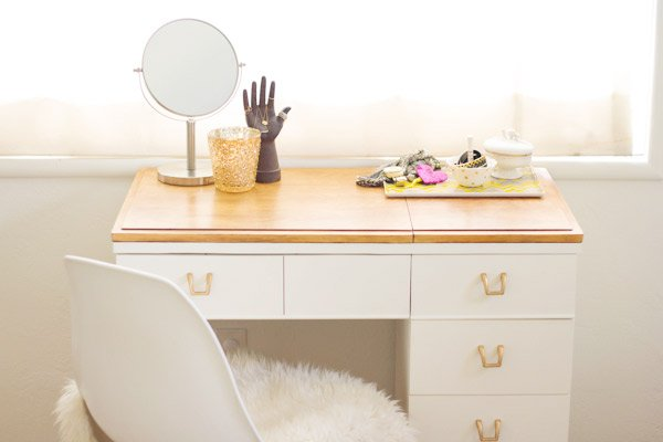 4 Ideas for a Unique Seated Vanity for Your Bathroom - Sewing Table Vanity