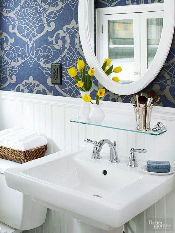 7 Genius Pedestal Sink Storage Ideas for Your Home - Add a Glass Shelf