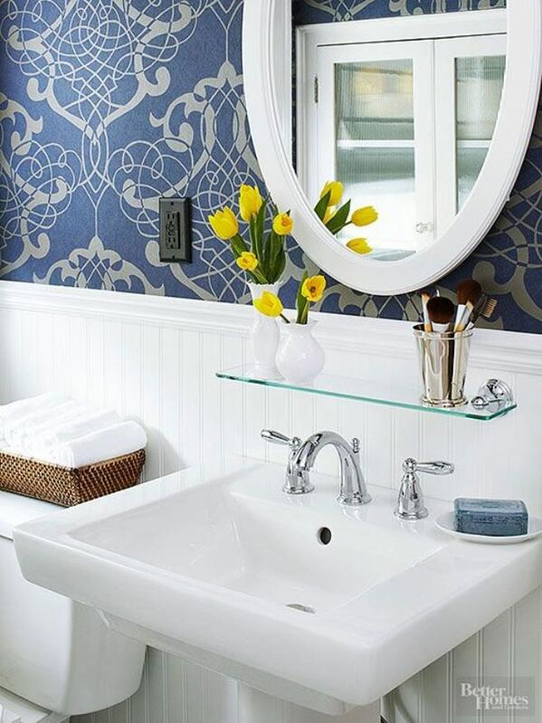 7 Genius Pedestal Sink Storage Ideas for Your Home - Add a Glass Shelf