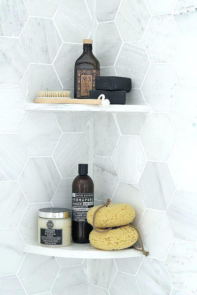 How to Use Bathroom Shelves to Organize Your Space - Shower Shelves