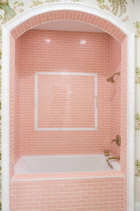 Embrace Retro and Chic Style With Pink Bathroom Tiles - Tile the Shower