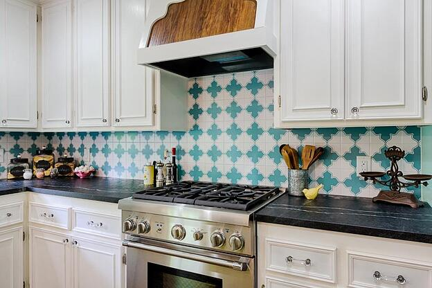 Kitchen Tiles - How to Use Them in Your Home - Painted Tile Kitchen Backsplash