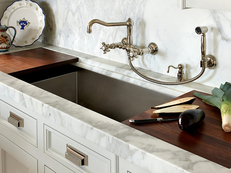 5 Styles of Kitchen Faucets to Try in Your Home Today - Wall Mounted Faucet