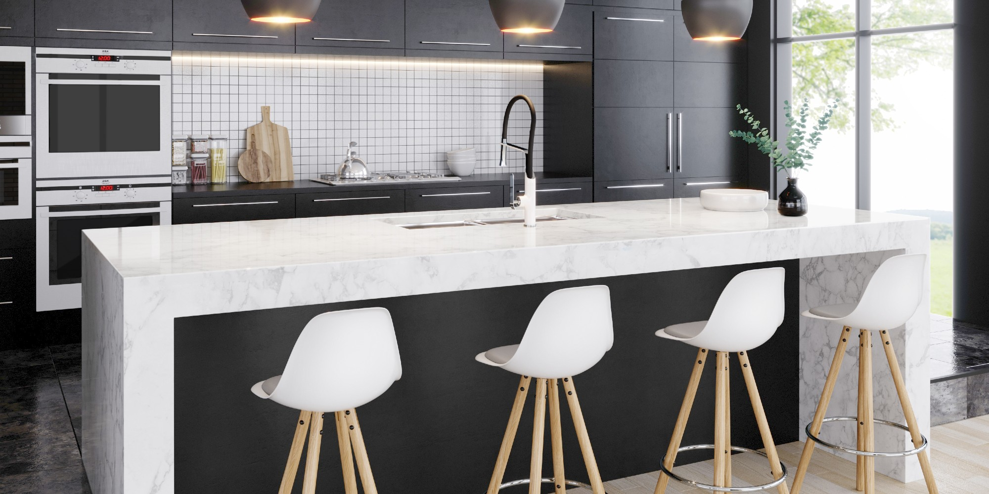 Frederick York Matte Black Kitchen Faucet